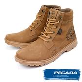 【PEGADA】巴西名品磨砂牛皮中筒靴 棕色(181051-BR)