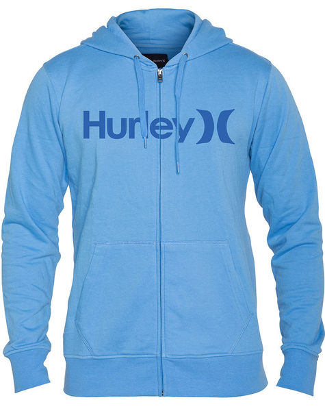 Hurley 男生 經典 ONE&ONLY 連帽外套 - 水藍