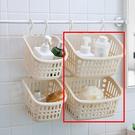 收納籃-收納居家萬用浴室免鑽孔雙勾透氣瀝水萬用收納盒 可疊掛【AN SHOP】