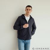 【GIORDANO】男裝3M吸濕排汗連帽外套 - 06 標誌灰