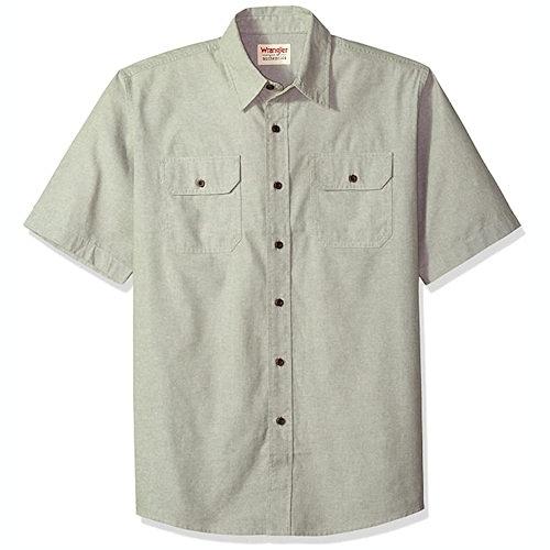 Wrangler 男胸袋短袖襯衫(石頭色)