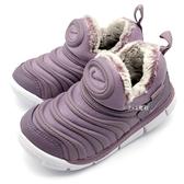 《7+1童鞋》小童 NIKE DYNAMO FREE SE (TD) 毛毛蟲鞋 運動鞋 冬季限定款 保暖內刷毛 F846 紫色