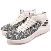adidas 籃球鞋 Dame 4 白 黑 4代 襪套式 特殊塗鴉圖騰 Damian Lillard 運動鞋 男鞋【PUMP306】 AQ0597