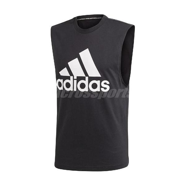 adidas 背心 Must Have BOS Tank 男款 黑 白 大Logo 三條線 運動休閒款 【ACS】 DT9936