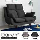 雙人座 達倫高背機能雙人布沙發/2色/H&D東稻家居