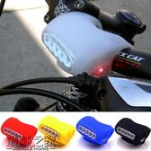 腳踏車燈自行車燈7LED硅膠青蛙燈車前燈警示
