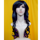 【萬聖節搞怪假髮】雙色 6304全頂假髮 2黑+51P紫色 [40587]