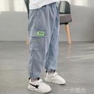 男童褲子夏季薄款2021年兒童牛仔褲夏款外穿防蚊褲帥氣時髦單褲潮 一米陽光
