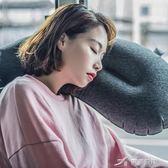 便攜式充氣茄子抱枕 男女用多功能旅行吹氣枕午睡出差飛機枕 樂芙美鞋