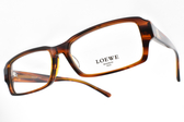 LOEWE 光學眼鏡 VLW759K 762 (透棕) 質感素面方框款 # 金橘眼鏡