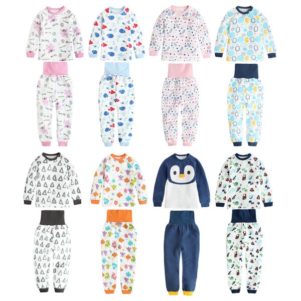 護肚套裝 居家服 印花 保暖 空氣棉 兒童睡衣 男童 女童 套裝 70118