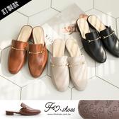 穆勒鞋.細金屬條低跟穆勒鞋(棕、黑)-FM時尚美鞋-訂製款.lightly