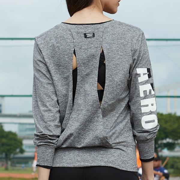 個性露背V領上衣TA716(商品不含模特內搭衣及配件)-百貨專櫃品牌 TOUCH AERO 瑜珈服有氧服韻律服