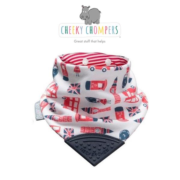 英國Cheeky Chompers-Neckerchew(英國製)咬咬兜/領巾/圍兜/固齒器 - 【London Town 倫敦小兵】