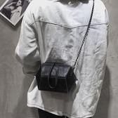 簡約斜挎包百搭女包拉鏈包肩帶小款可愛學生鏈子 WD743【夢幻家居】