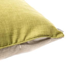 HOLA 素色拼色滾邊抱枕60x60cm 草綠