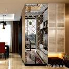 鏡貼18新菱形3D立體水晶亞克力鏡面墻貼客廳臥室背景墻貼裝飾鏡自粘 麥吉良品YYS