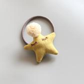 睡眠紗球星星立體髮圈 髮圈 髮飾 頭飾 髮繩