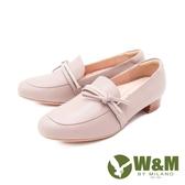 W&M(女)方頭鑽帶莫卡辛鞋 樂福鞋 女鞋-裸粉色(另有黑)