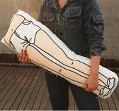 有印YOUIN原創設計創意少女抱大腿個性插畫風搞怪抱枕生日禮物(90X26cm)