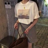 夏裝2020新款韓版學生圓領寬鬆網紅t恤chia短袖女ins潮洋氣打底衫上衣
