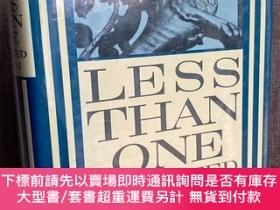 二手書博民逛書店Less罕見than One(布羅茨基《小於一》,文筆一流,精裝帶護封,難得好 ,1986