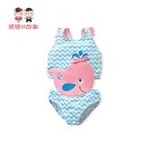 女童泳衣2019新款洋氣小童連體嬰幼兒公主款泳裝女寶寶小孩1-3歲