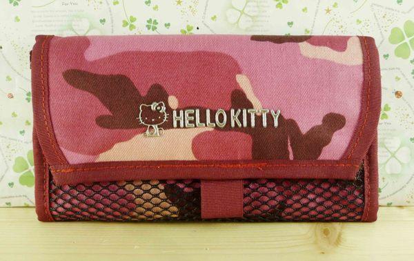 【震撼精品百貨】Hello Kitty 凱蒂貓-凱蒂貓皮夾/短夾-迷彩紅色