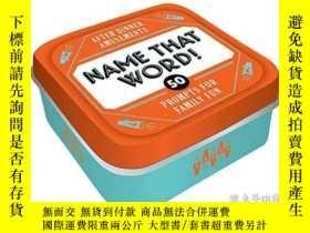二手書博民逛書店After罕見Dinner Amusements: Name That Word!: 50 Prompts for