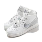 Nike 休閒鞋 Air Force 1 High 07 LV8 3M 白 銀 男鞋 高筒 反光 AF1 【ACS】 CU4159-100