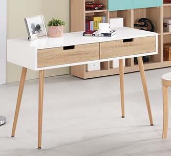 【森可家居】伊妮德3.6尺書桌 7CM380-3 雙色 木紋質感 無印北歐風