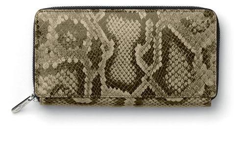 Faber-castell 經典蛇紋皮女用長型錢包 *188846
