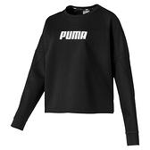 PUMA NU-TILITY 女裝 長袖 休閒 短版 寬鬆 舒適 基本款 黑【運動世界】58106901
