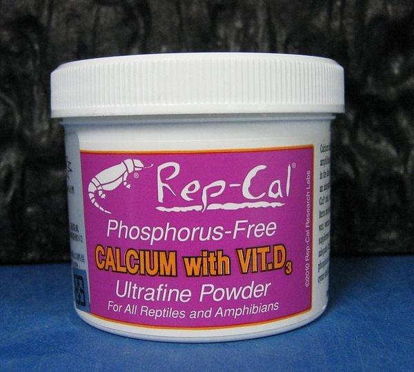 【西高地水族坊】美國Rep-cal 爬蟲超細鈣粉+D3-116g