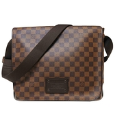 LOUIS VUITTON LV 路易威登 棋盤格翻蓋斜背書包 Brooklyn MM N51211 【BRAND OFF】