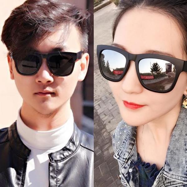太陽鏡 新款男士黑超墨鏡圓臉偏光太陽鏡女潮2020正韓明星同款開車男【快速出貨】