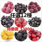 冷凍莓果任選12公斤特惠價(野生藍莓、蔓越莓、覆盆莓、黑醋栗、紅櫻桃、黑莓、草莓、芒果)