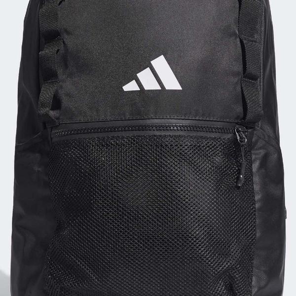 adidas 後背包 Parkhood Backpack 男女款 黑 白 基本款 Logo 包包【PUMP306】 DU2005