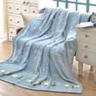 鴻宇 防寒萬用毯 超細纖維法蘭絨四季毯 H2116雪花藍