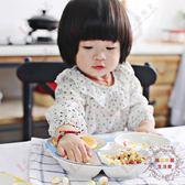 個性陶瓷餐具盤卡通兒童陶瓷分格餐盤可愛早餐盤分隔點心盤水果盤【好康免運】