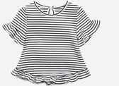 黑五好物節 童裝女夏季新款條紋T恤2-4-6歲女寶寶韓版圓領上衣女童短袖打底衫 小巨蛋之家