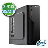 華碩B365平台【EI391-AB365M10】i3四核 2TB效能電腦