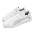 【海外限定】Puma 休閒鞋 BMW MMS Smash V2 白 灰 賽車鞋 男鞋 運動鞋 小白鞋 【ACS】 30645002