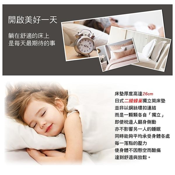 【多瓦娜】諾雅度名床-赫爾本記憶棉蜂巢式獨立筒床墊/單人3.5尺-150-56-A