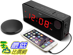 [9美國直購] iLuv 無線鬧鐘 Time Shaker Boom Wireless Vibrating Bed Shaker Alarm Clock Sleepers, LED Displa
