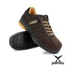 PAMAX 帕瑪斯【超機能頂級彈力(雙)氣墊止滑安全鞋】-反毛牛皮-寬楦鋼頭※ PS04655FEH--男女