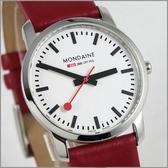 【萬年鐘錶】MONDAINE 瑞士國鐵 超薄皮錶 XM-672111R