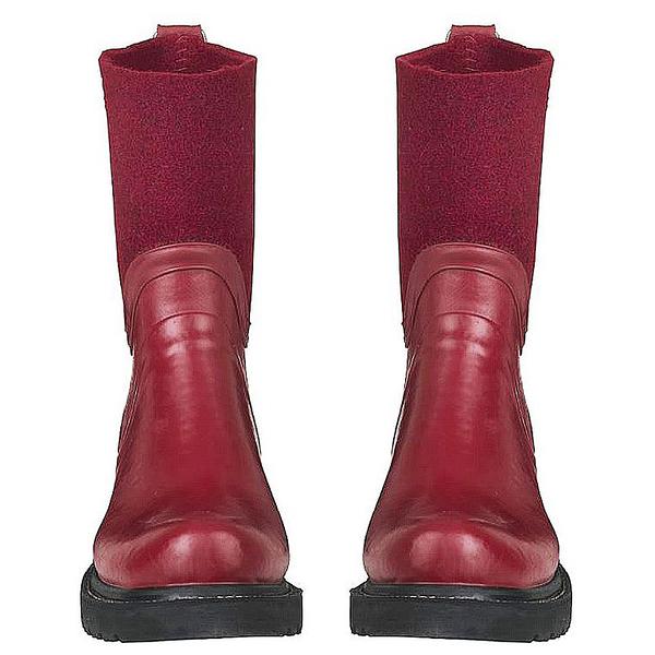 RUB53防水抗寒拼接中筒雨靴-紅