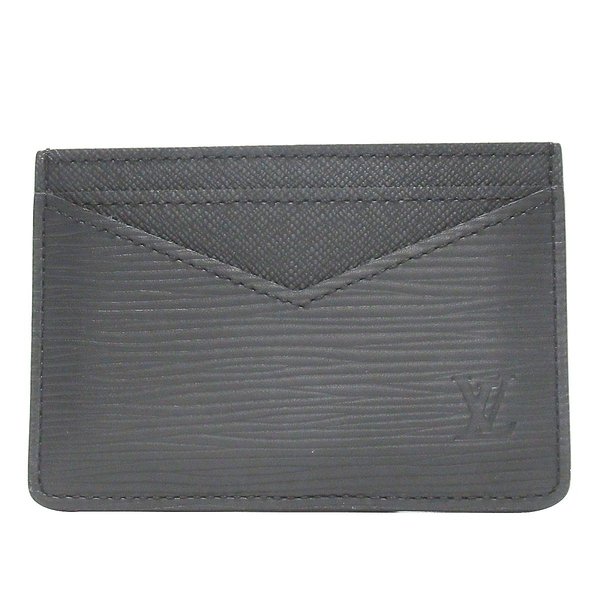 LOUIS VUITTON LV 路易威登 黑色水波紋EPI名片夾 Neo Card Holder M67210   BRAND OFF