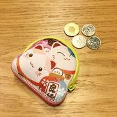 【金石工坊】幸福滿滿招財貓零錢包/隨身包/耳機盒-求人緣 求姻緣